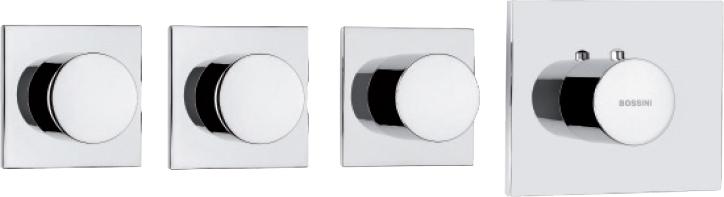 Термостат Bossini OKI 3 Outlets LP Z031205 для ванны с душем, хром