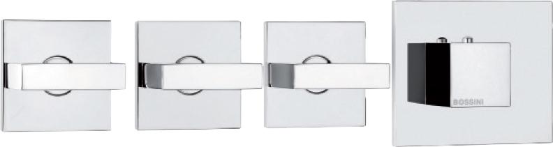 Термостат Bossini Rectangular 3 Outlets LP Z033205 для ванны с душем, хром